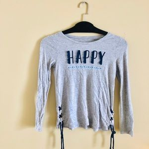 🔹Girls Long Sleeve Happy Shirt